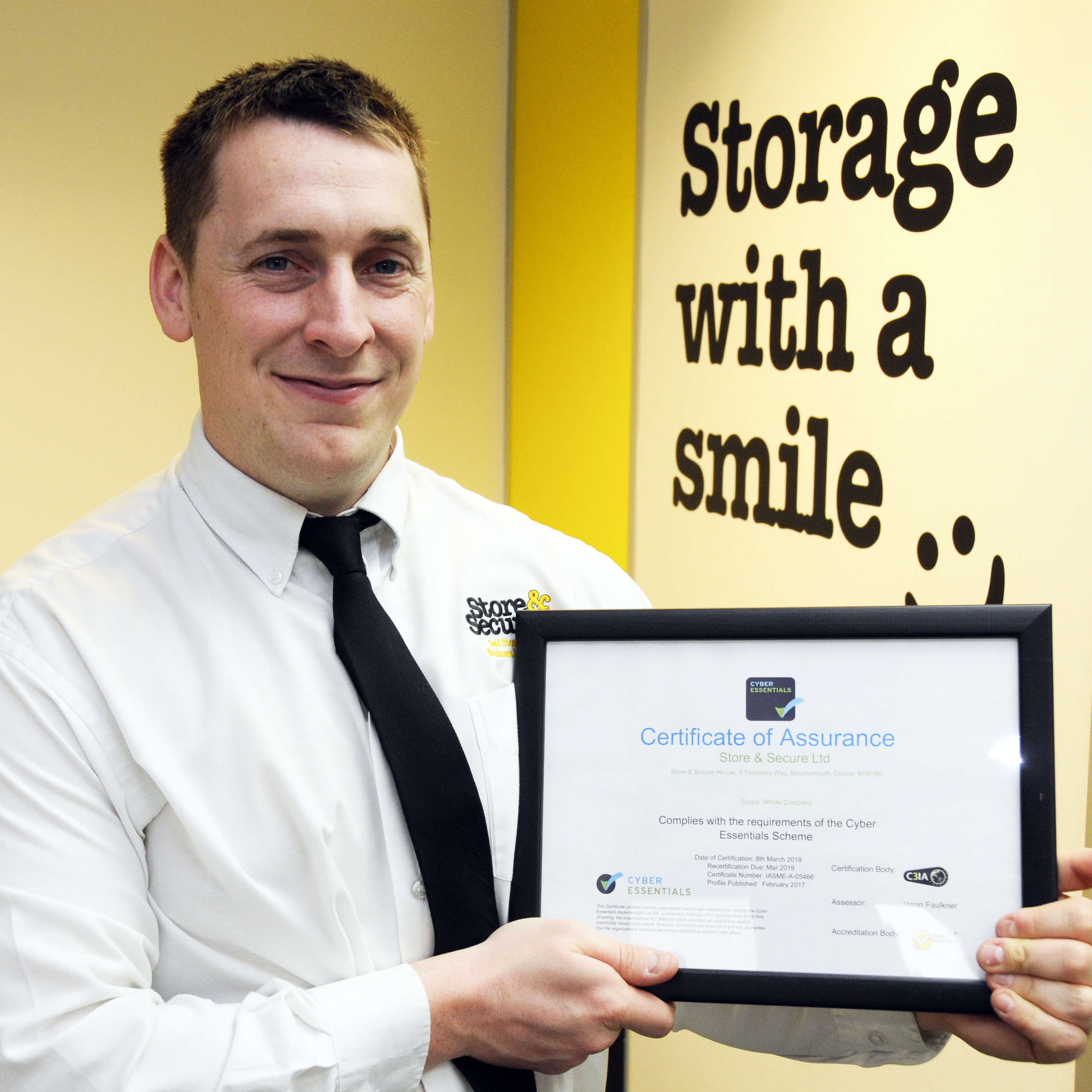 Colin Morris, Facilities Manager, Store & Secure