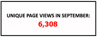 Unique page views September 2018