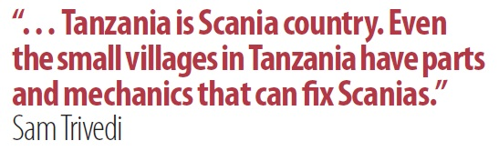 Tanzania is Scania country