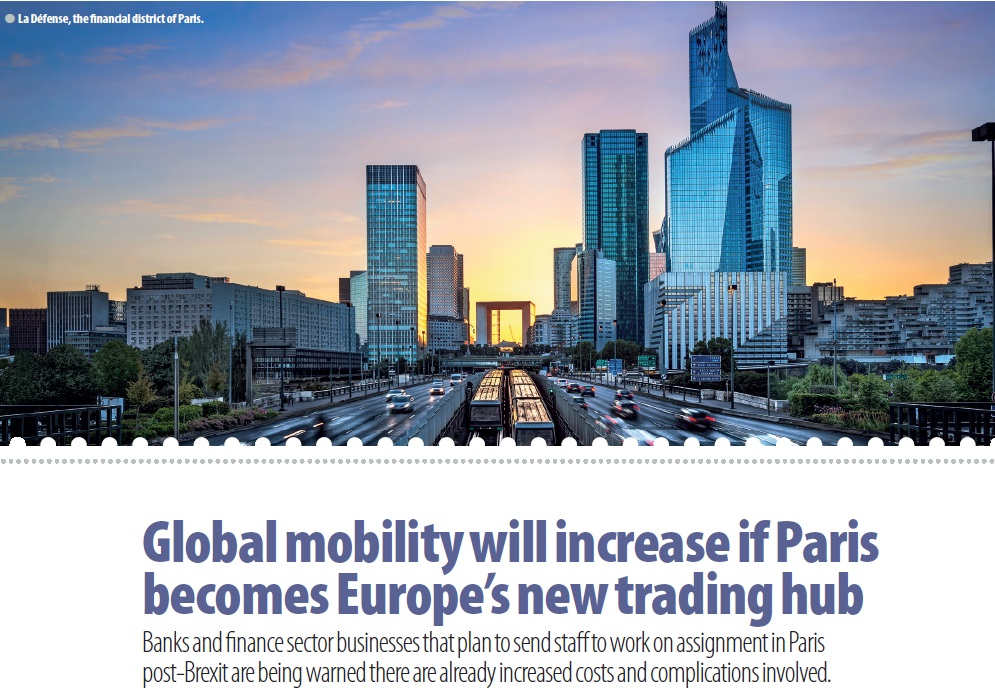 Global mobility will increase if Paris becomes the new trading hub of Europe