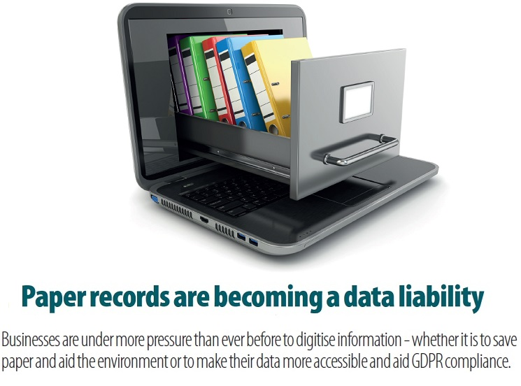 Paper based records are becoming a data liability