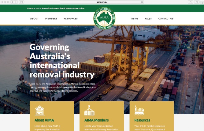 AIMA's recently launched website