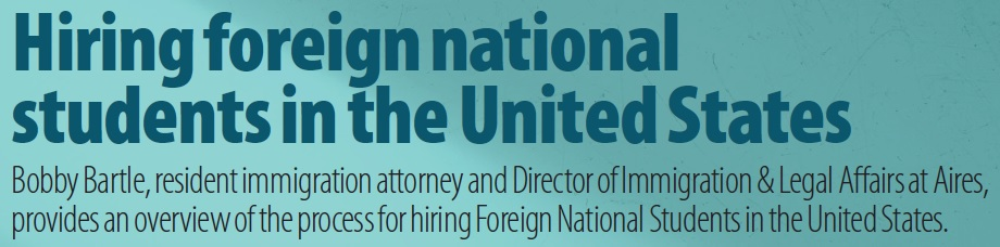 Hiring foreign national students in the United States