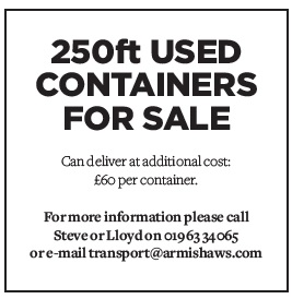 250ft used containers for sale