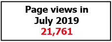 Page views July 2019