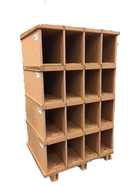 PALLITE PIX is a range of lightweight, yet strong, storage and shelving systems made from 100% recyclable materials