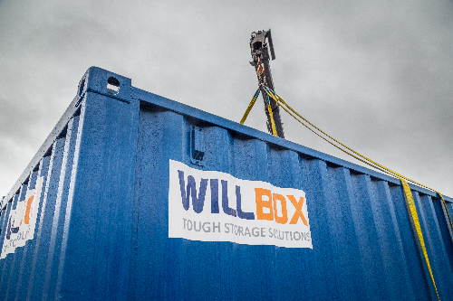 Willbox Container being lifted