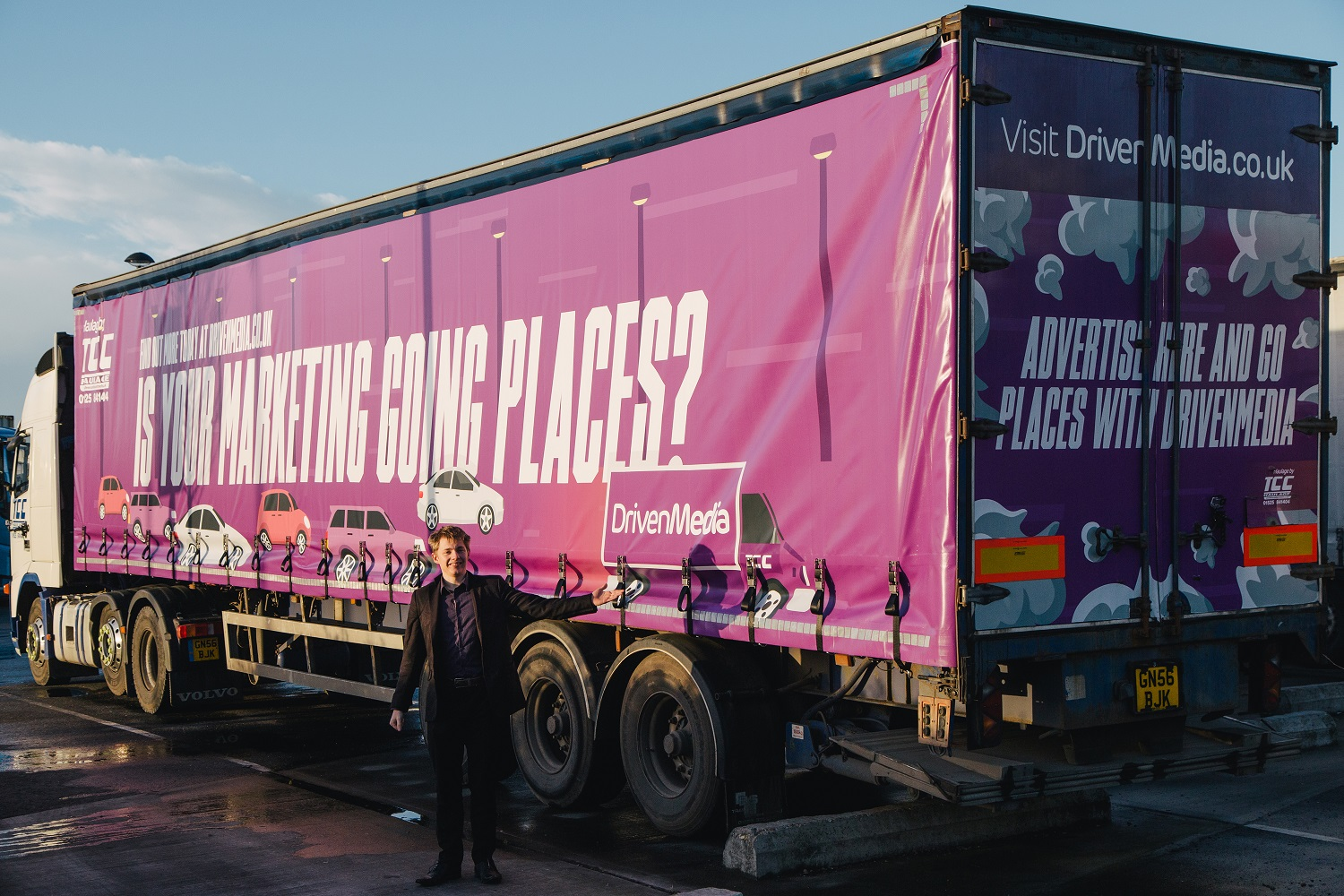Ed Holland with a DrivenMedia liveried truck