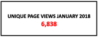 Unique page views January 2018