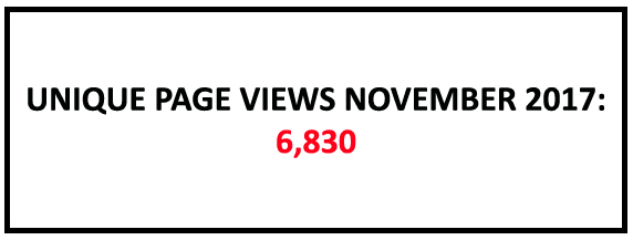 Unique page views November 2017