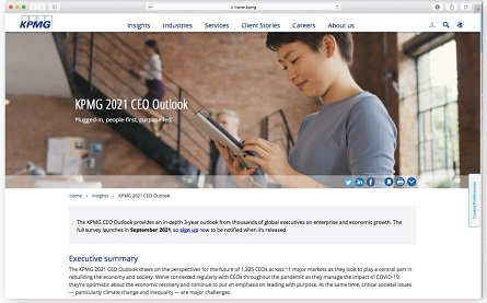 KPMG 2021 CEO Outlook - 445x277